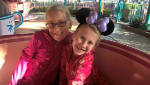Laura's children enjoying a Disney vacation.