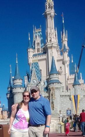 Laura and Craig Mosier at Disney's Magic Kingdom in Orlando.