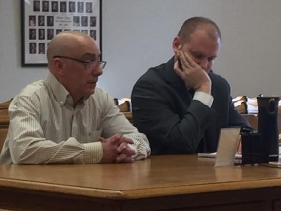 Steven Ziemkowski with his attorney, David Glancy.