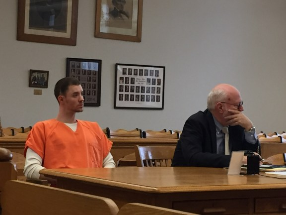 Shanin Waite with his attorney, Douglas Stevenson.