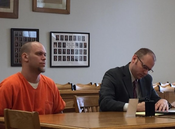 Mark Dekle with his attorney, David Glancy.