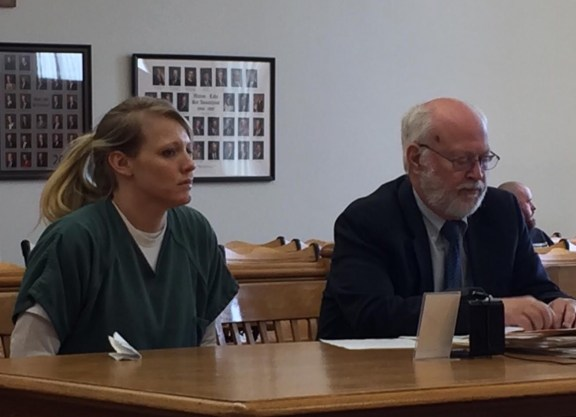 Tabatha Humphreys with her attorney, Douglas Stevenson.