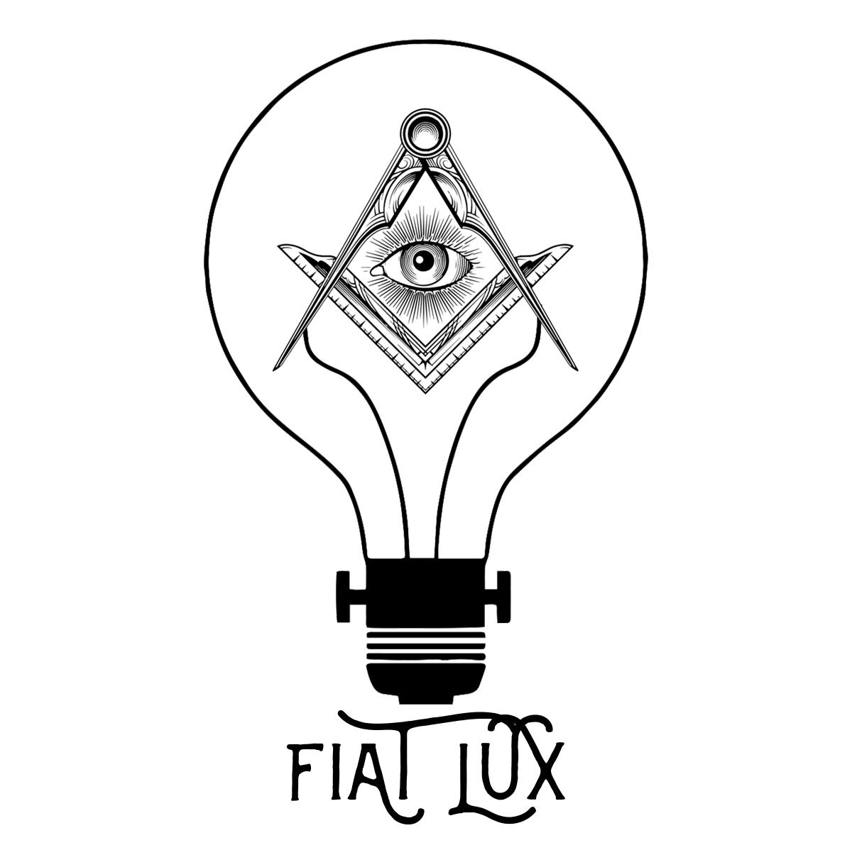 Fiat Lux Lightbulb Square And Compass Masonic Women S V