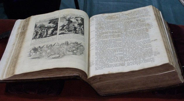 Washington Bible - image from the Masonic Library and Museum