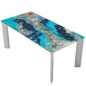 Tavoli da interno ed esterno. Domiziani Tables Chairs For Outdoor In Hand Painted Lava Stone Masonionline