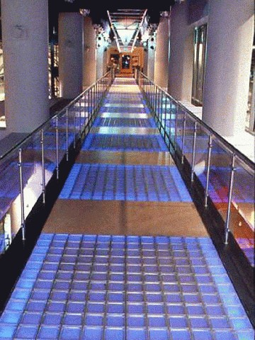 Glass Block Pavers 6 and 8  Glass block paver floor systems