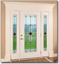 Art Glass Doors and Stained Glass Side Windows in St. Louis