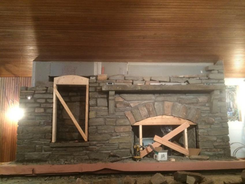 MASONRY RESTORATION of the FIREPLACE and CHIMNEY at the