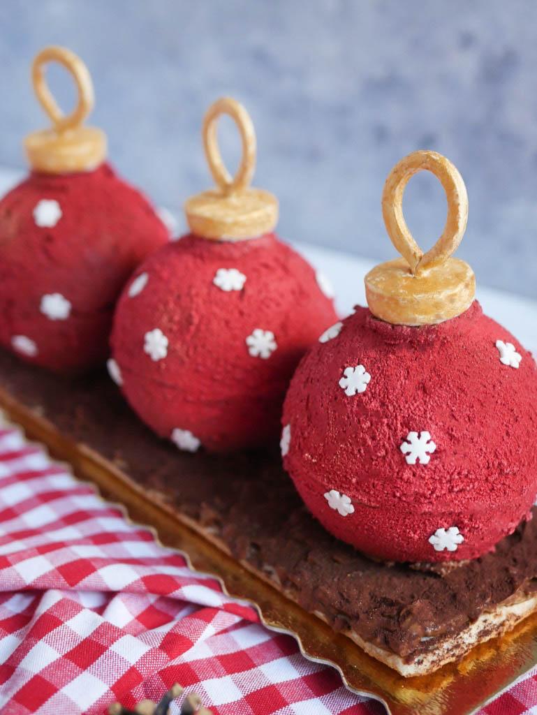 recette royal au chocolat facon boules de noel