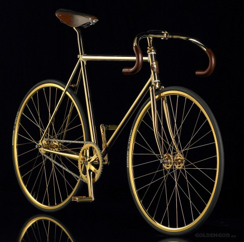 aurumania golden bike swarovski