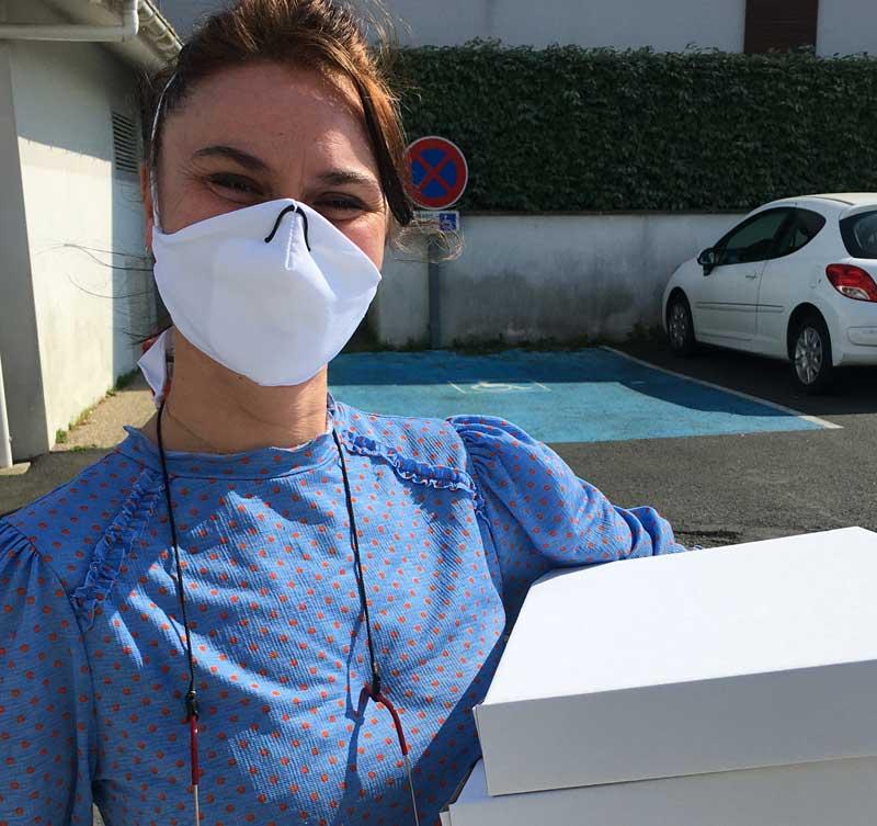 Dorothée Le Fil en Scène - Anglet - confinement masque tissu