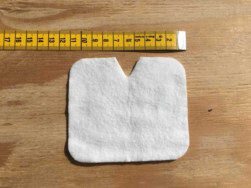 Filtre carre de coton pour masque barrière en tissu