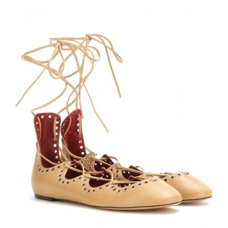 lace up flats isabel marant