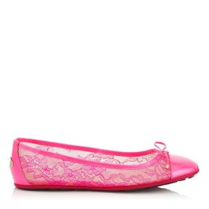 bordado rosa neon jimmy choo