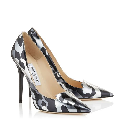 pumps camuflaje metalico jimmy choo
