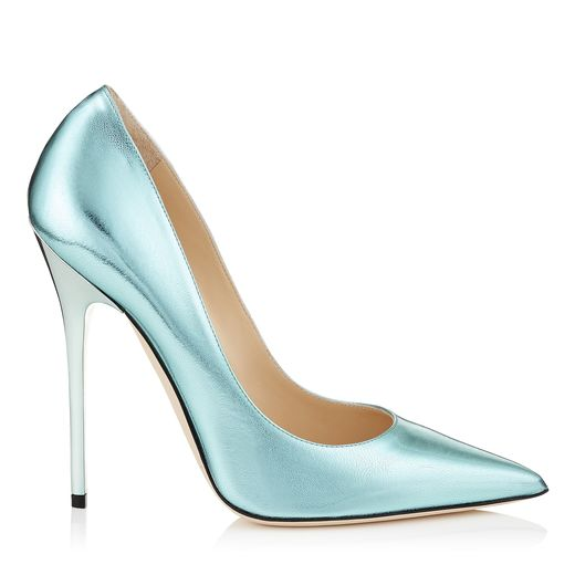 pumps metalicos menta jimmy choo