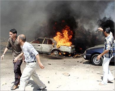 حادث الشرابية يؤدي الى مصرع 24 شخصا ..انهيار منزلين وتحطم سيارتين