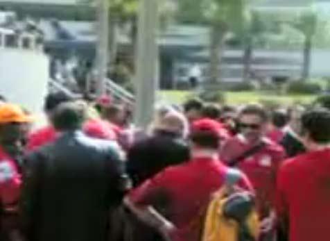 اخلاء سبيل 45 متظاهر أمام السفارة الجزائرية   احداث مباراة مصر والجزائر