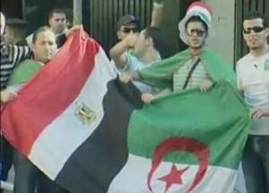 ازمة مباراة مصر والجزائر