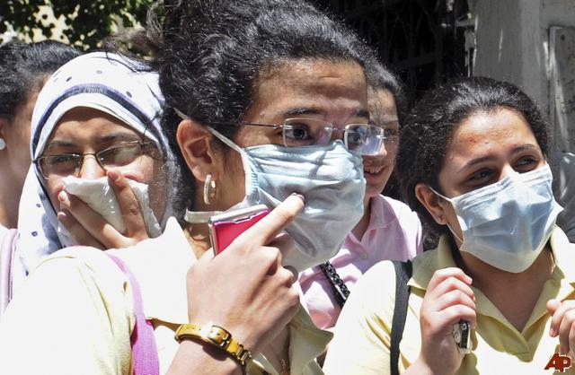 تلاميذ المعادي في خطر من انفلونزا الخنازير