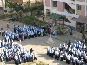 مدارس القاهرة ومواجهة انفلونزا الخنازير