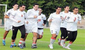 منتخب مصر يستعد لـ مباراة مصر ومالاوي غدا