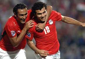 منتخب مصر كسبان وخلص على بطلجية سعدان | انجولا 2010