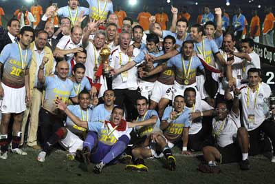 بالفيديو تتويج المنتخب المصري بطل القارة الافريقية في انجولا 2010