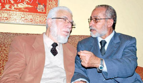 محمد بديع المرشد العام الجديد مع جمعة امين