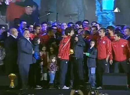 عمرو دياب في حفلة منتخب مصر  استاد القاهرة | اغنية عمرو دياب للمنتخب