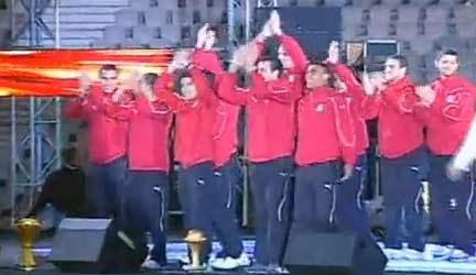حفلة تكريم المنتخب المصري  استاد القاهرة 2010