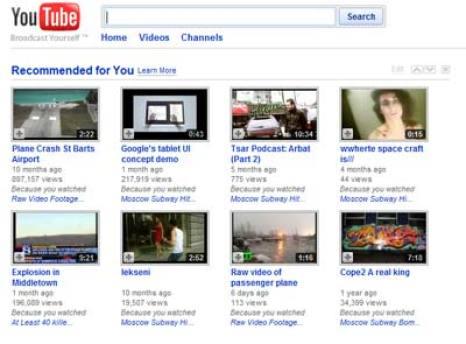 تعطل موقع يوتيوب