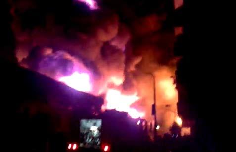 اخبار حادثة حريق مصنع جهينة ايجي فود في 6 اكتوبر