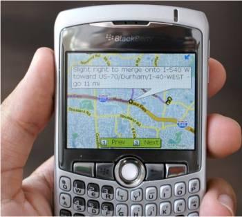 خرائط جوجل بلاك بيري