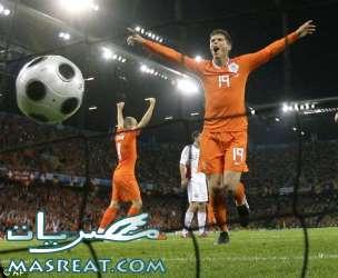 اهداف مباراة هولندا و سلوفاكيا