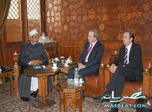 شيخ الازهر احمد الطيب يستقبل رئيس وزراء بلجيكا ويدعو لتفعيل حوار الاديان