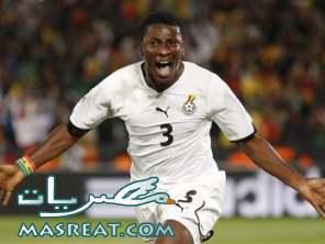 نتيجة مباراة غانا و اورجواي .... ابياه لا يشعر بأي توتر