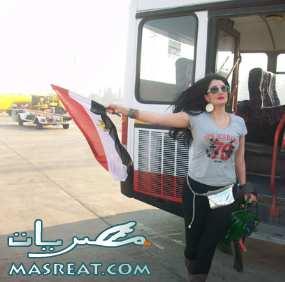 غادة عبد الرازق تعيد احداث مباراة مصر والجزائر في السودان بـ التجربة