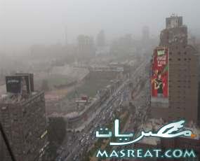 عاصفة ترابية بالقاهرة و المحافظات تؤدي الى حوادث عديدة