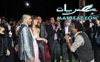محمد منير في حفلة خطوبة عماد متعب و يارا نعوم