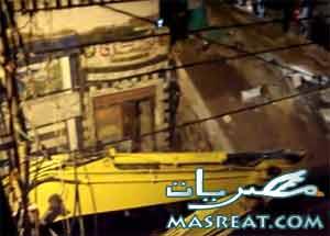 انهيار منزل بالمحلة بسبب سوء الاحوال الجوية فى مصر