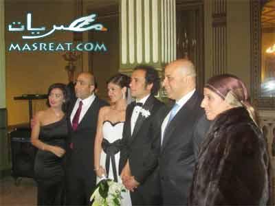 صورة عمرو حمزاوي وبسمة اثناء الحفل