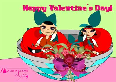 بطاقات عيد الحب فالنتاين