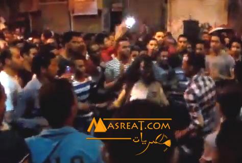 بالفيديو ضرب فتاة ترقص احتفالاً بفوز عبد الفتاح السيسي