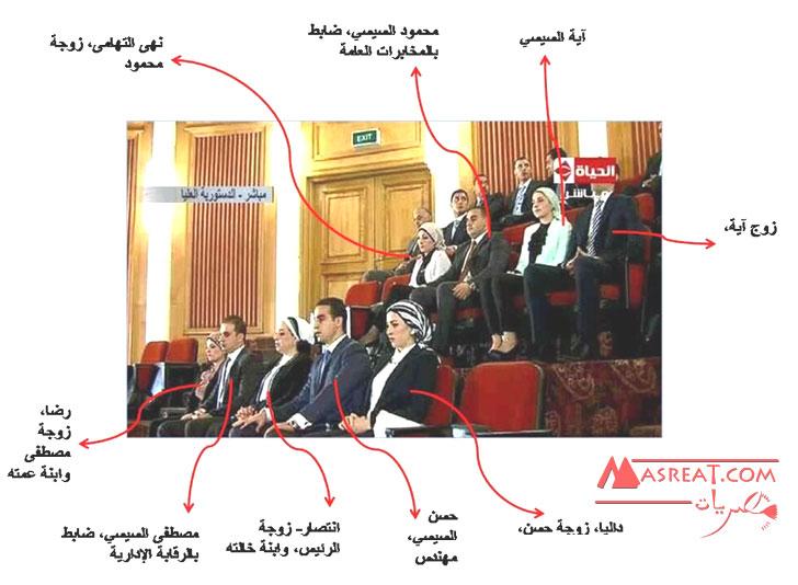 بالصور اسرة وعائلة الرئيس المصري الجديد عبد الفتاح السيسي