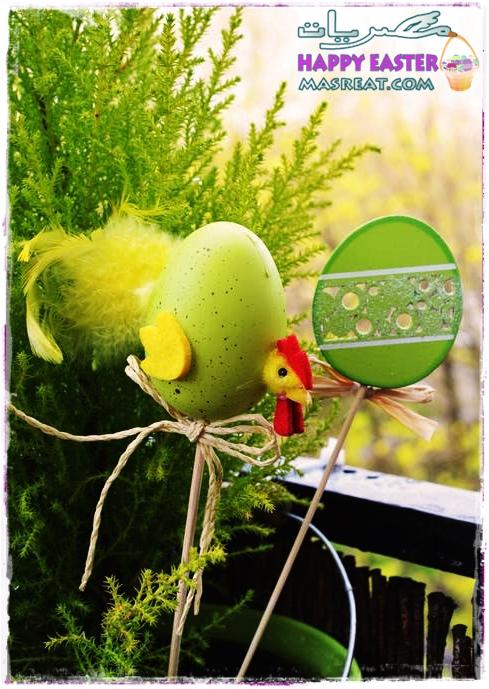 صورة بيض شم النسيم ربيعية