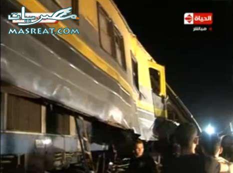 حادثة العياط حادث تصادم قطار القاهرة و قطار الفيوم