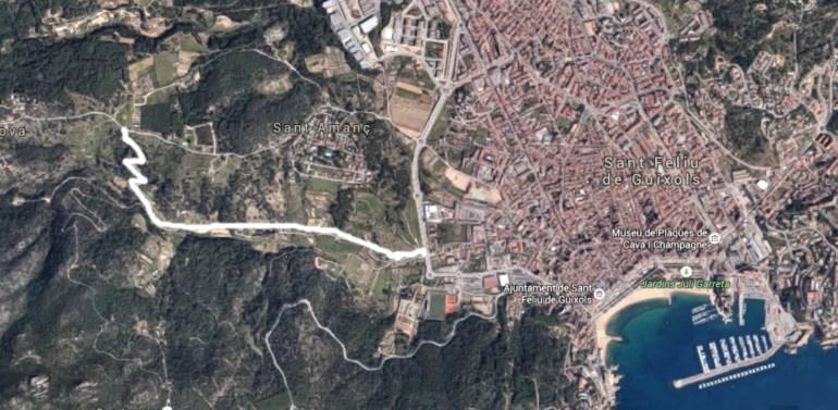 Camí de Les Comes de Sant Feliu de Guíxols - Estabilització SAULO SOLID i TERRA SOLDIA