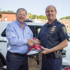 In August, Attorney David White with Everett Police Captain Richard Basteri.