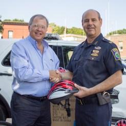 In August, Attorney David White with Everett Police Captain Richard Basteri.